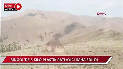 Bingöl'de 5 kilo plastik patlayıcı imha edildi