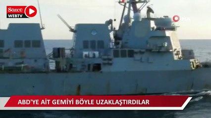 Rus savaş gemisi, Çin ile ortak askeri tatbikatı sırasında ABD savaş gemisini uzaklaştırdı