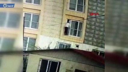 حظ سيء.. لص يقفز من الطابق الثاني لحظة التقائه بصاحب البيت