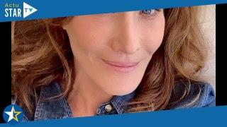 Carla Bruni malade : Fiévreuse et patraque, elle s'affiche sans maquillage au lit