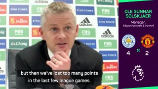 United 'didn't earn right to win' against Leicester - Solskjaer