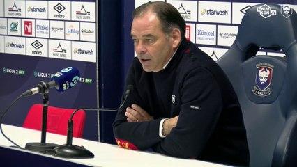 J12 Ligue 2 BKT : les réactions de S.Moulin et A.Mendy après SMCaen 2-2 Le Havre AC