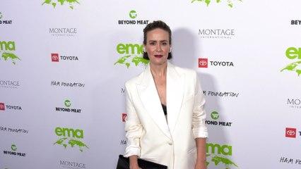 "Sarah Paulson ""2021 EMA Awards Gala"" Green Carpet Fashion!"