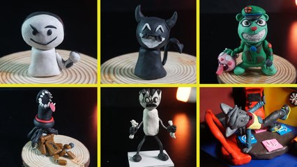 Making All Friday Night Funkin' MOD Characters with Clay Part 3