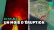 Un mois de coulée de lave qui ont transformé le paysage de La Palma