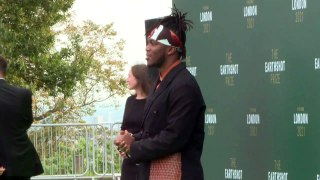 KSI arrives at the Earthshot Prize ahead of his performance