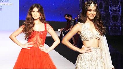 Tara Sutaria And Alaya F Dazzle At The Ramp Of Bombay Times Fashion Week 2021