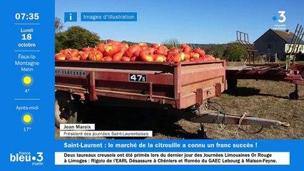 18/10/2021 - Le 6/9 de France Bleu Creuse en vidéo