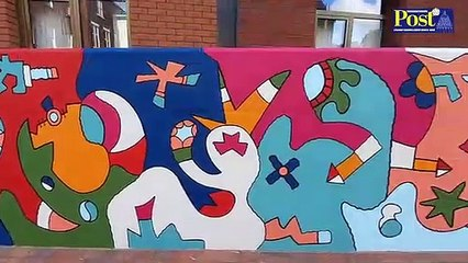 Nicolas Dixon mural at Guiseley