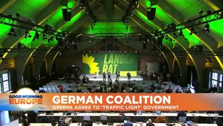 German Greens vote to support formal coalition talks in party congress