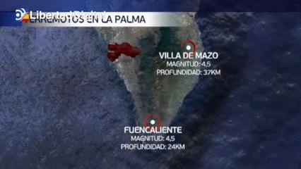 Dos terremotos de magnitud 4,5 sacuden La Palma por la fuerza del volcán