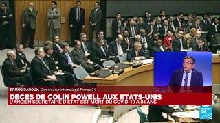 USA : décès de l'ancien secrétaire d'Etat Colin Powell des suites du Covid-19