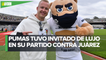 Nikita Mazepin visita el Estadio Olímpico Universitario para el Pumas vs Juárez