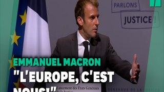 Présidentielle 2022: Macron tance les candidats qui attaquent l'Europe