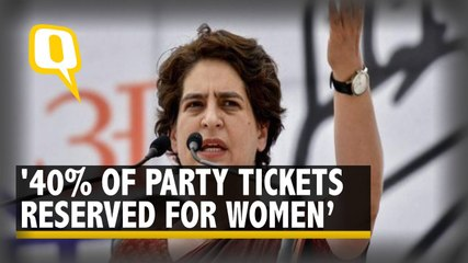 'Congress to Give 40% of Tickets to Women in UP Elections': Priyanka Gandhi Vadra