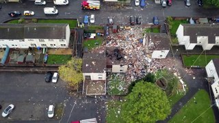 Two adults and two children are in hospital following an explosion in a residential area of Ayr