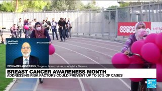 Breast cancer awareness month: Addressing risk factors could prevent up to 30% of cases