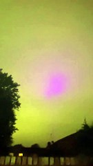 Mysterious  blue lights in Peterborough sky