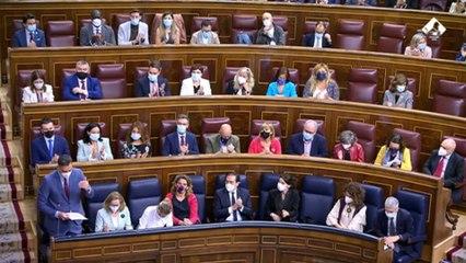 Pedro Sánchez aprovecha una pregunta de Teruel Existe para cargar contra Ayuso