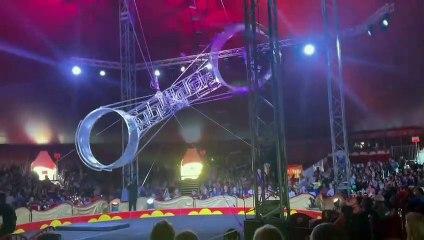 Une Roue de la Mort chute en plein spectacle dans un cirque (États-Unis)