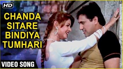 Chanda Sitare Bindiya Tumhari HD Naseeb 1997 Govinda And Mamta Kulkarni Udit Naryan Hits