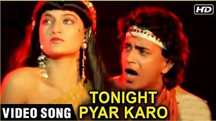 Tonight Pyar Karo - Video Song Diwaala Mithun Chakraborty And Meenakshi Old Hindi Retro Songs