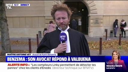 """Antoine Vey, avocat de Karim Benzema: """"Il a fait valoir un motif professionnel, comme tout justiciable"""""""