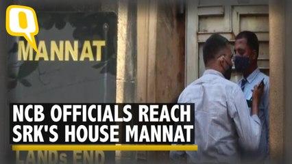 Mumbai Drugs Case   NCB Officials Reach Mannat, SRK Meets Son in Jail