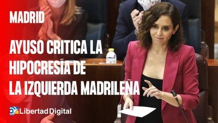 """Ayuso critica la hipocresía de la izquierda madrileña: """"Tienen más viviendas que el portal de idealista"""""""
