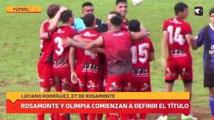 Rosamonte y Olimpia comienzan a definir el título: Luciano Rodríguez, DT de Rosamonte