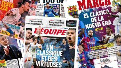 La presse espagnole senflamme pour le Clasico dun nouvel ge, Lionel Messi lassaut du Vlodrome