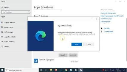 How to Repair Microsoft Edge Browser On Windows 10?