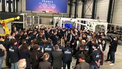 A Saint-Etienne, Emmanuel Macron annonce un plan pour le secteur de l'Industrie