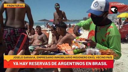 Ya hay reservas de argentinos en Brasil