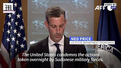 US urges 'immediate' restoration of government in Sudan- State Department