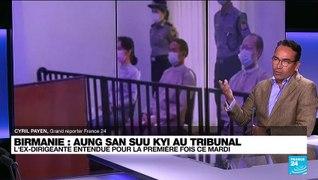 Birmanie : l'ex dirigeante Aung San Suu Kyi entendue au tribunal