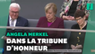 Angela Merkel assiste depuis les tribunes à la nouvelle séance du Bundestag