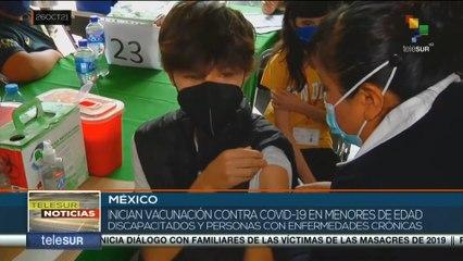 Inician en México vacunación anticovid a menores con discapacidad y enfermos crónicos