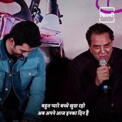 Dharmendra Praises His Grandson Karan, Karan Gets Emotional