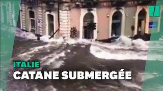 Inondations en Siciles : les images de Catane sous les eaux