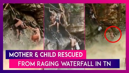 MK Stalin Tweets Video Of Daring Rescue Of Mother And Child At Anaivari Muttal Waterfall, Watch Video