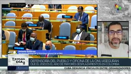 Informe de DD.HH. en Colombia evidencian crisis humanitaria en relación a desplazamientos