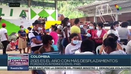 ONU revela que el 2021 es el año con mayor desplazamientos forzados en Colombia