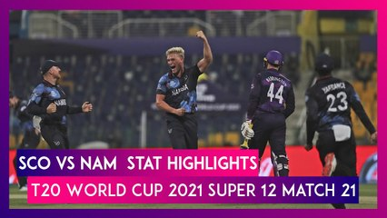 SCO vs NAM Stat Highlights T20 World Cup 2021: Namibia Registers 4 Wicket Win