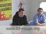 Conférence de presse de la LCR (Besancenot)