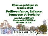 20080305 Petite enfance, enfance, jeunesse et scolaire
