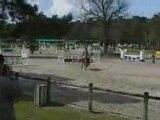 Ilka a Fontainebleau le 1er jour en D2p CSO.