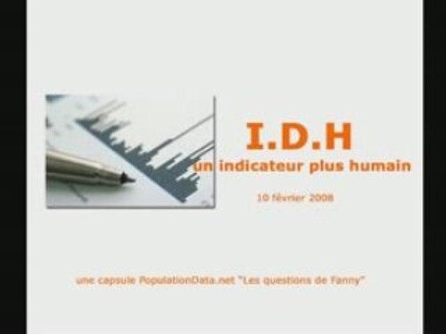 PopulationData.net - Capsule vidéo IDH