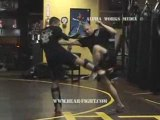 Muay Thai Kick Boxing instruction with Bear Essential Combat
