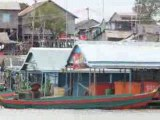 People living on the Tonle Sap banks filmed by boat